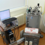 Mossbauer Spectrometer with magnetic field, ultralow temperature cryostat (Engelmann Scientific)